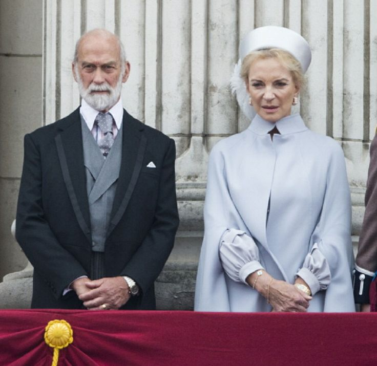 Prince Michael of Kent and Princess Michael of Kent during 2014 Trooping the Colour at The Royal Horseguards in London, England