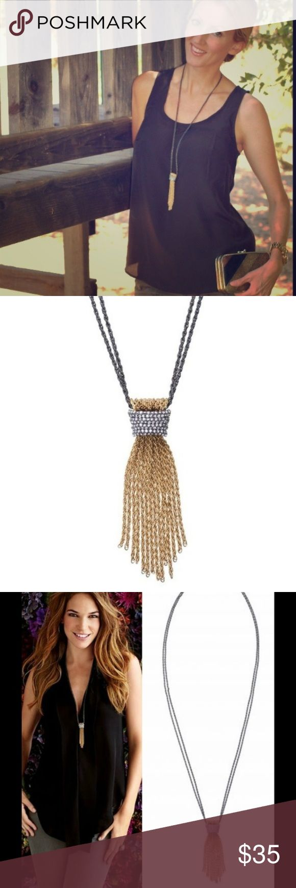 """Stella and Dot Necklace """"Windsor Tassel"""" No flaws  IRL photos by request Jewelry Necklaces"""