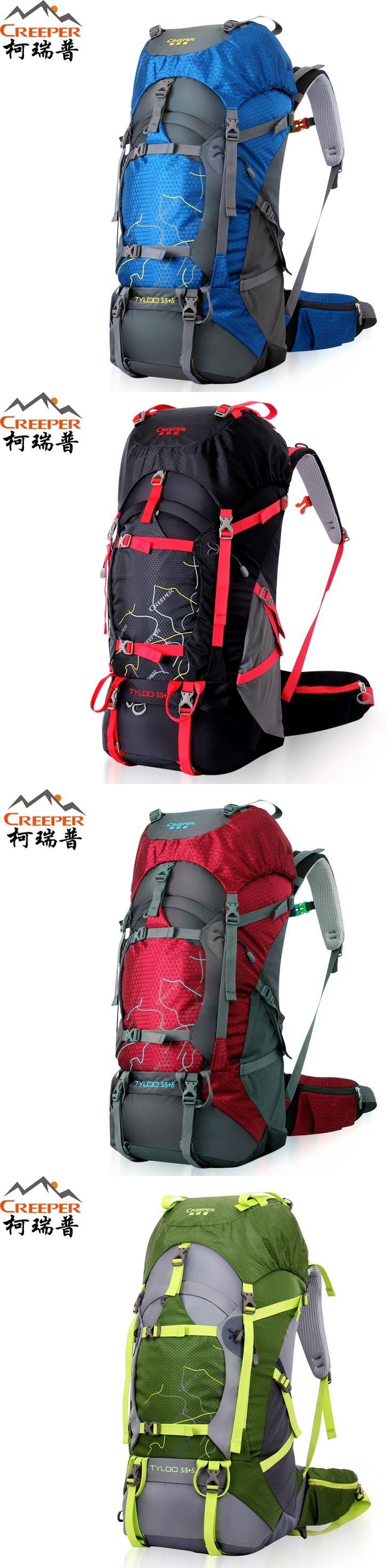 Creeper Camping Bag 50L 60L 70L Hiking Backpacks Unisex Outdoor Sport Bag Waterproof Rain Cover Molle Backpack Mochila Masculina