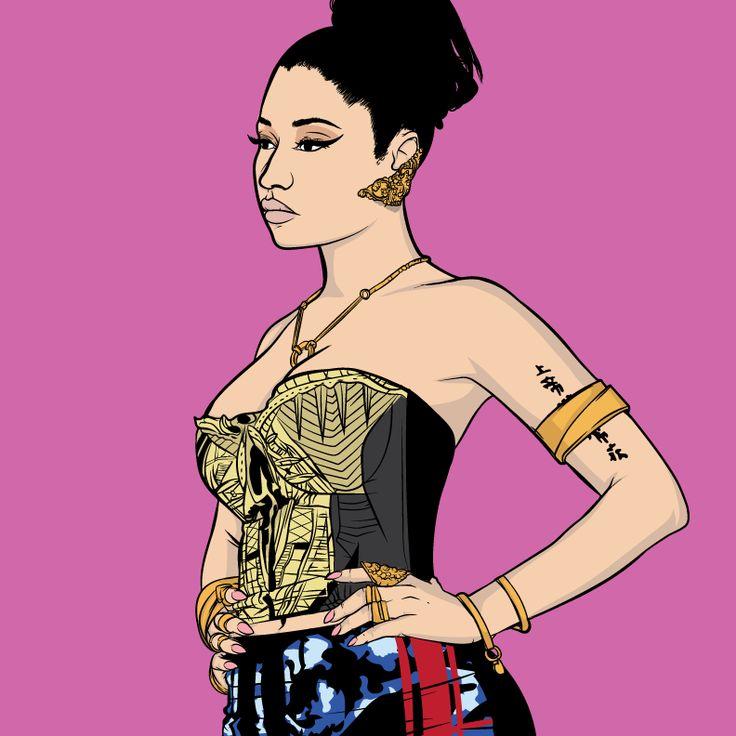 Nicki Minaj | Art by Samona Lena info@scaredofmonsters.com