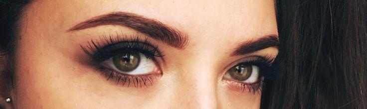 Brown and black/soft smokey eye +lashes