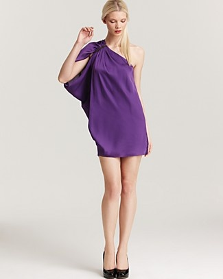 How gorgeous. Draping at it's best. Aqua One Shoulder Dress $81.20