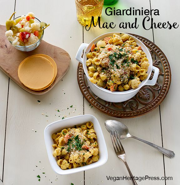 Vegan Giardiniera Mac and Cheese from Cook the Pantry by Robin Robertson