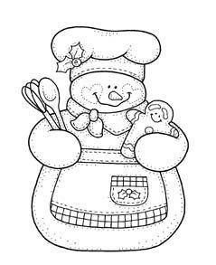 Gingerbread snow woman                                                                                                                                                      Mais