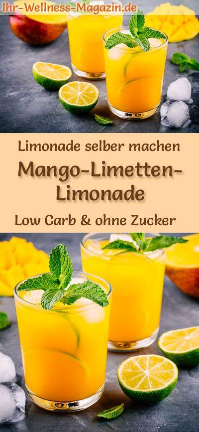 Mango und Limonade selber machen: kohlenhydratarmes Rezept für hausgemachte Limetten …   – Limonade selber machen – Rezepte
