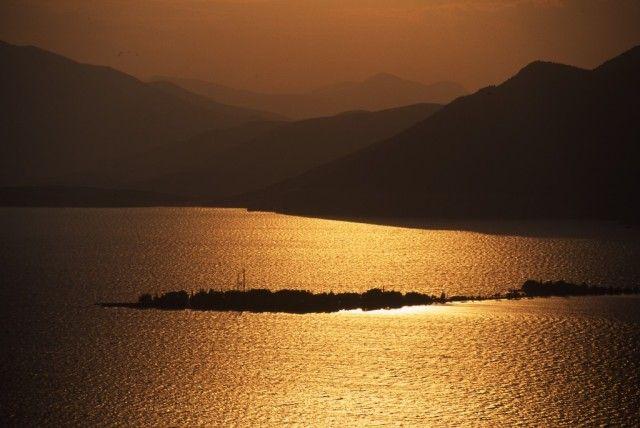 Eğridir Lake , Amazing  sun set