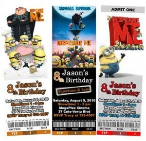despicable me party invitationsBday Ideas, Birthday Parties, Party Invitations, Parties Ideas, Minions Parties, Bday Parties, 2Nd Birthday, Parties Invitations, Birthday Ideas