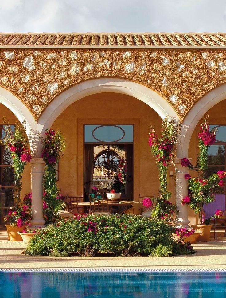 Piedra 100 fachada de piedra viva y arcos y columnas - Porches de casas ...