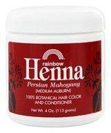 Rainbow Henna 100% Botanical Hair Color and Conditioner - Persian Mahogany Medium Auburn - 4 oz