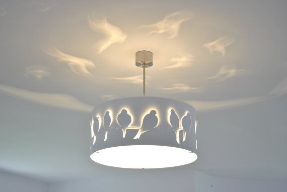 Modern Lamp ceiling light WHITE BIRDS