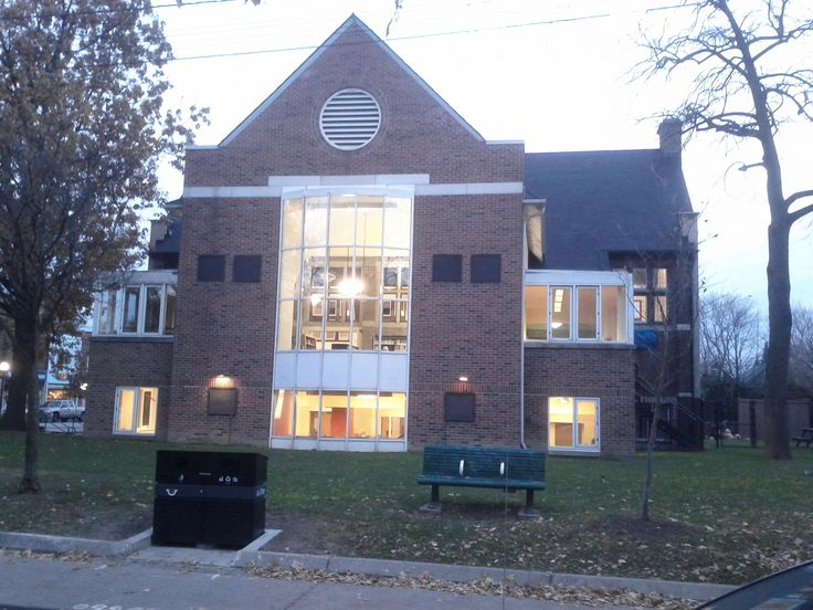 The High Park Public Library in the High Park neighbourhood in Toronto.
