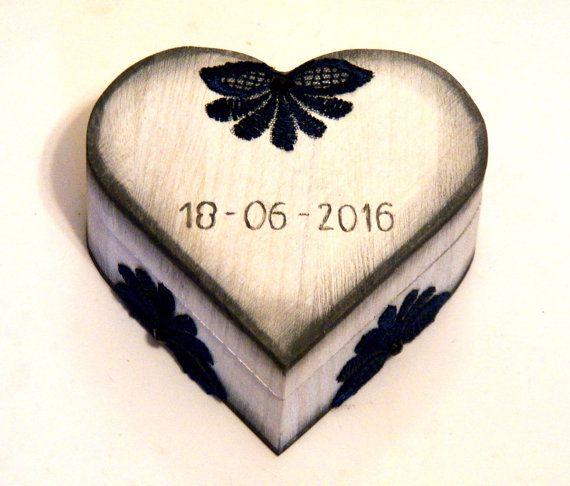 Personalized Ring Box Couple Ring Box Wedding por Personalizedbox