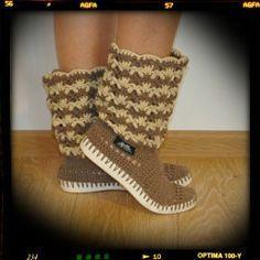 Otros - Ganchillo las botas de verano de algodón 100% de c - hecho a mano por uki-boots en DaWanda