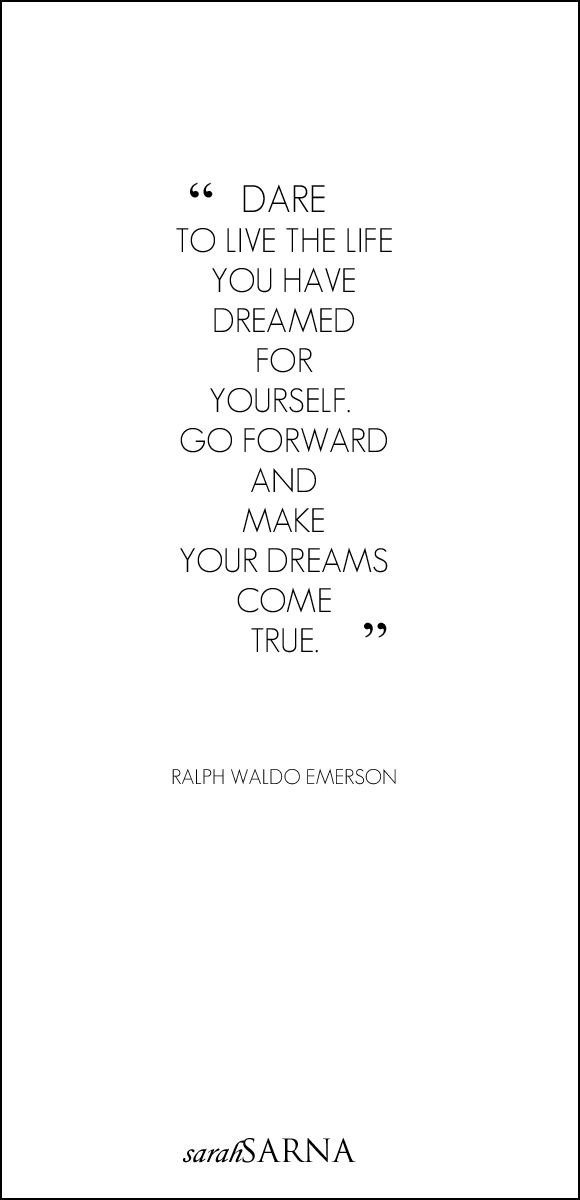 Mid-Week Inspiration from Ralph Waldo Emerson | Live The Life You Dream About | A Style Interiors Fashion New York Life Blog