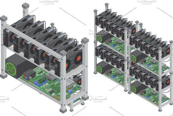 Isometric Crypto Mining Farms Crypto Mining Isometric Mining