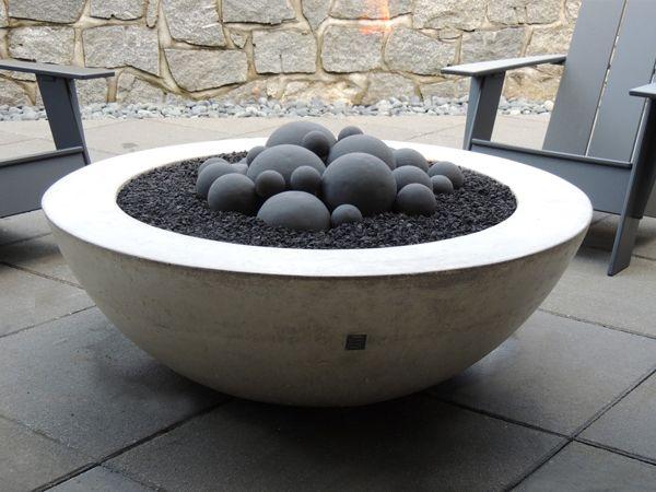 ernsdorf design concrete fire pit bowls furniture and art - Fire Pit Bowl