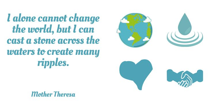To change the world, we all have to help one another.