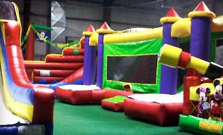Groupon - All-Day Indoor Bounce House for One, Two, or Four Kids at Inline 1 Bounce and Play (Up to 58% Off). Groupon deal price: $7.00