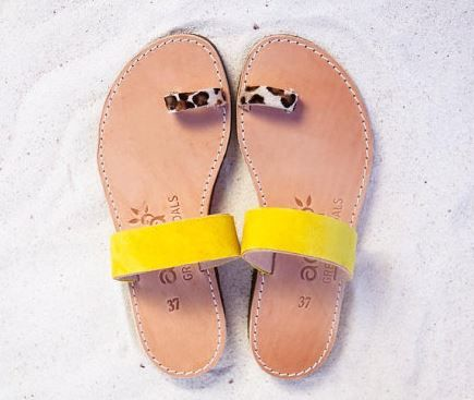 leopard greek sandals.JPG