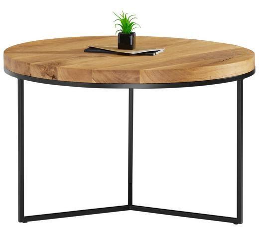 Runder Couchtisch Aus Holz Mit Schwarzen Tischbeinen Couchtisch Eiche Massiv Couchtisch Couchtisch Eiche