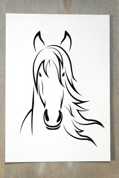 FINE ART Druck PFERD  Kunstdruck Print von SCHILDERMANUFAKTUR   ---  homestyle-accessoires  --- auf DaWanda.com