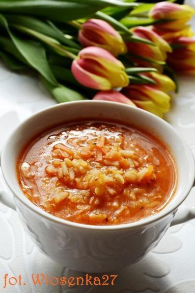 Zdjęcie: Zupa pomidorowa z ryżem i soczewicą