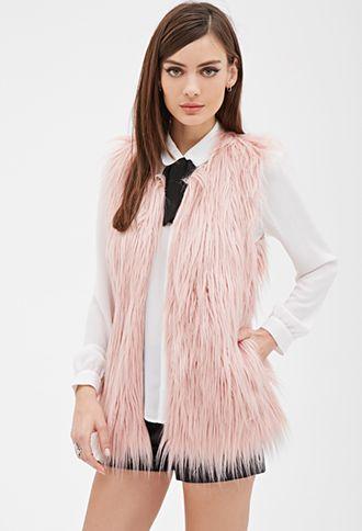 Faux Fur Vest | FOREVER21 - 2000066815 #Forever Holiday