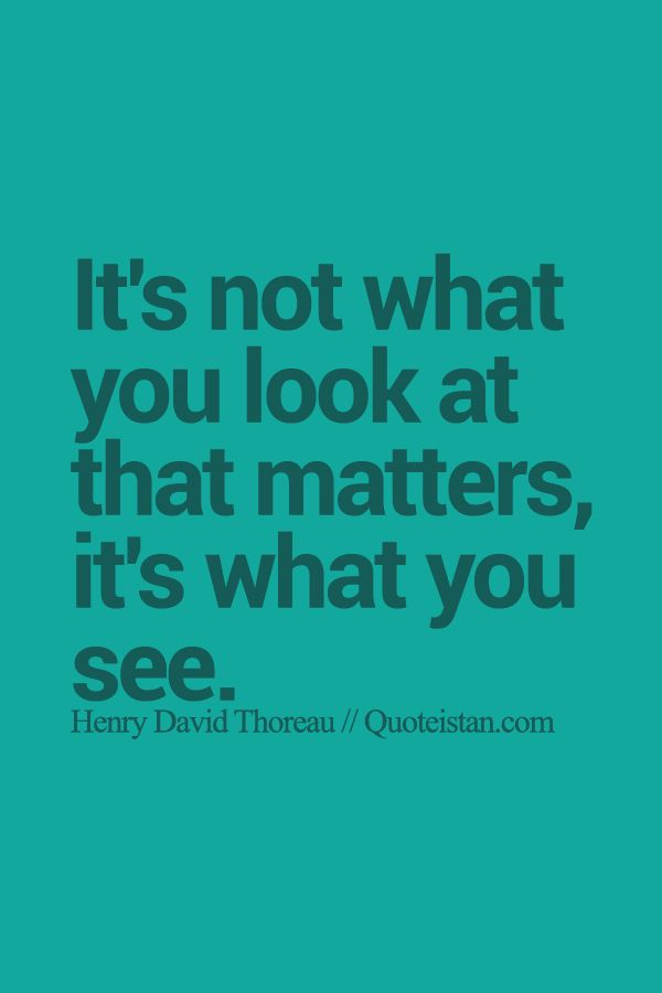 Its Not What You Look at That Matters but What You See Essay Sample
