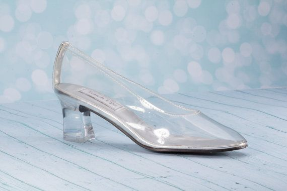 Cinderella Wedding Shoe Heel Height 2 Clear vinyl shoe *Embellished with I DO stickers on the bottom of the soles See last photo