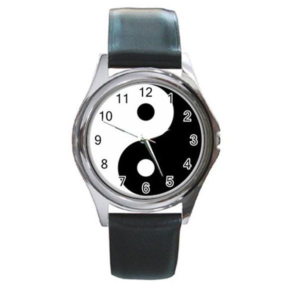 Rare Hot TAIJITU Ying Yang Round Watches by ributributbro on Etsy