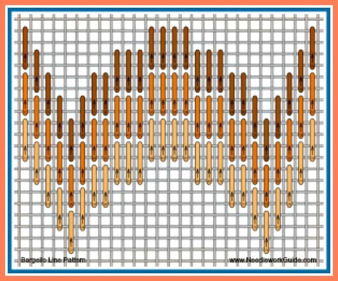 Bargello Line Pattern #NeedlepointStitch