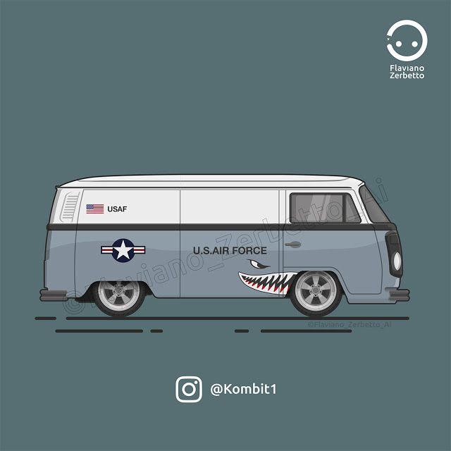 KombiT1: U.S. AIR FORCE T2 Van Low Flat Design