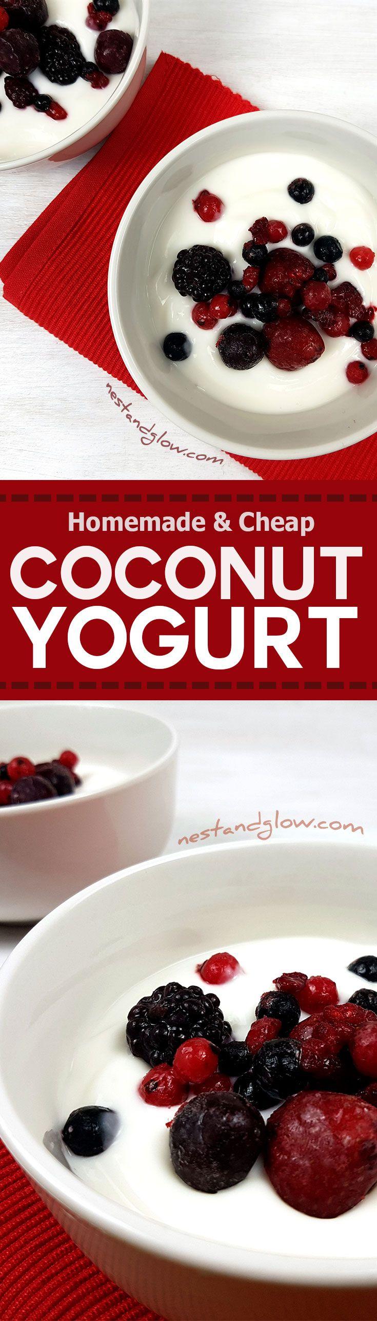 Dairy-free Easy Coconut Yoghurt Recipe - Vegan, Paleo and sugar free via @nestandglow