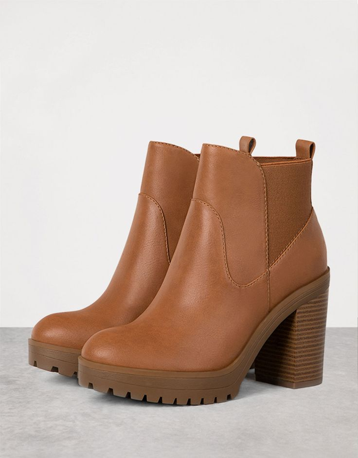 Bershka Indonesia - Wide heel stretch ankle boots
