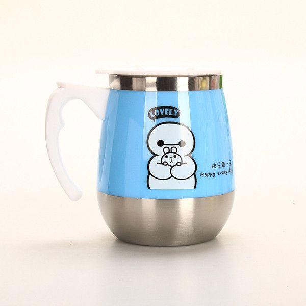 Stainless Steel Coffee Cup Cartoon Hero Tea Thermos Mugs Milk Thermo Mug Tumbler