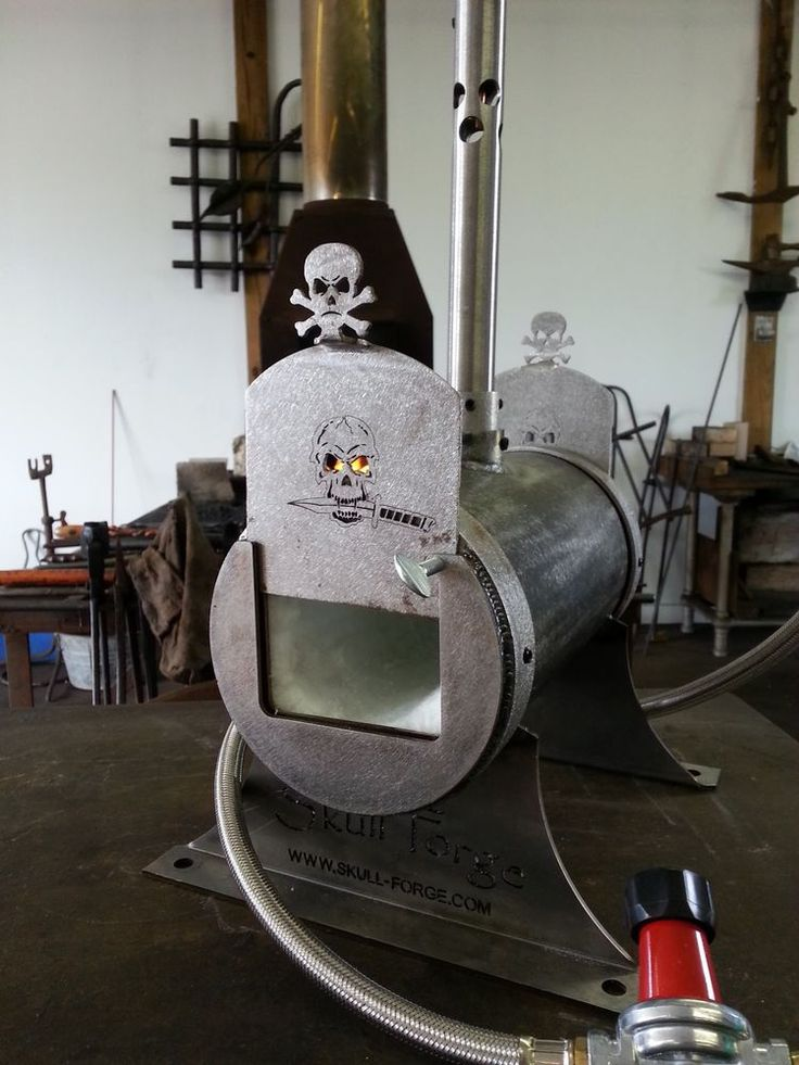 Single Burner Blacksmith Knife Maker Bladesmith Gas Forge Skull Forge