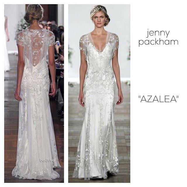 """* 理想のドレス② 〔jenny packham """"AZALEA""""〕 * """"EDEN""""を見つけてからというもの、 ジェニーパッカムのドレスが理想のドレスになりました。 * こちらはビジューやスパンコールではなく、 豪華で繊細なシルバーのレースが素晴らしいです‼︎ * 背中もとっても美しいデザイン‼︎( ´ ▽ ` )ノ * #ウエディングドレス#ドレス#結婚式#ウエディング#wedding#dress#weddingdress#ジェニーパッカム#jennypackham#レース#結婚式レポ#ウエディングレポ#プレ花嫁"""