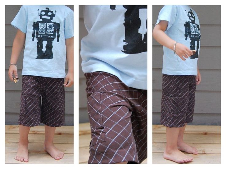 DIY boy shorts from old button shirt