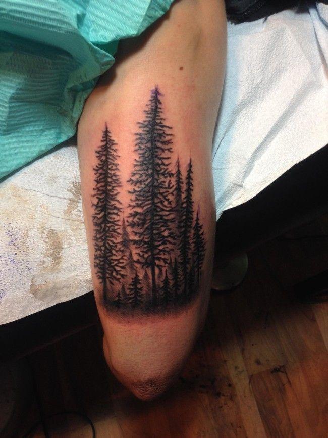 Forest on my arm, done by Joshua Dobbs @ 330 Main Tattoos - Nova Scotia, Canada.