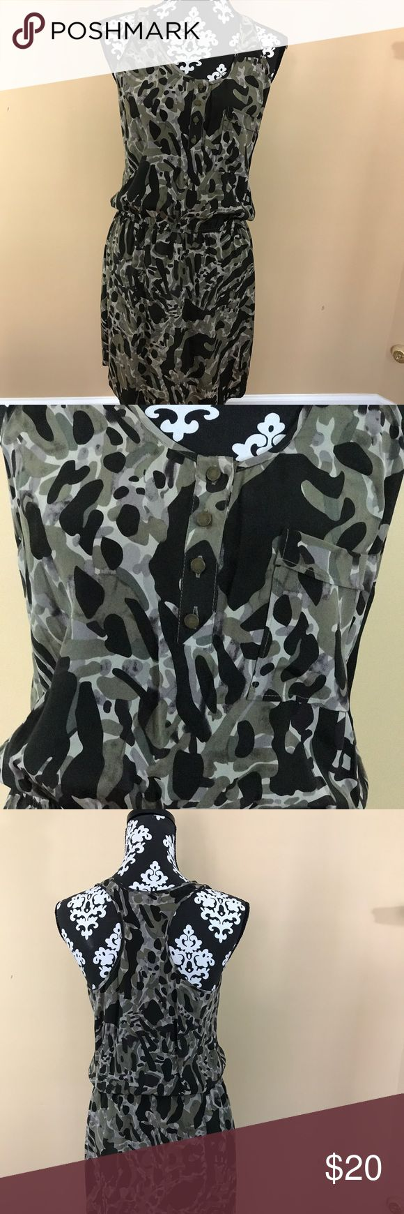 Charlie Jade drawstring dress Camouflage pattern dress with drawstring at waist. Size S Charlie Jade Dresses