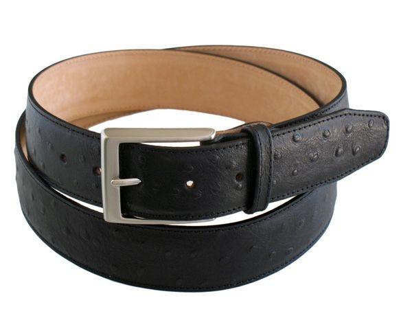 Ostrich print men's belt PESTAU23