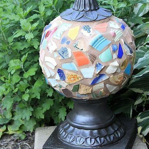 Repurposed Garden Globe