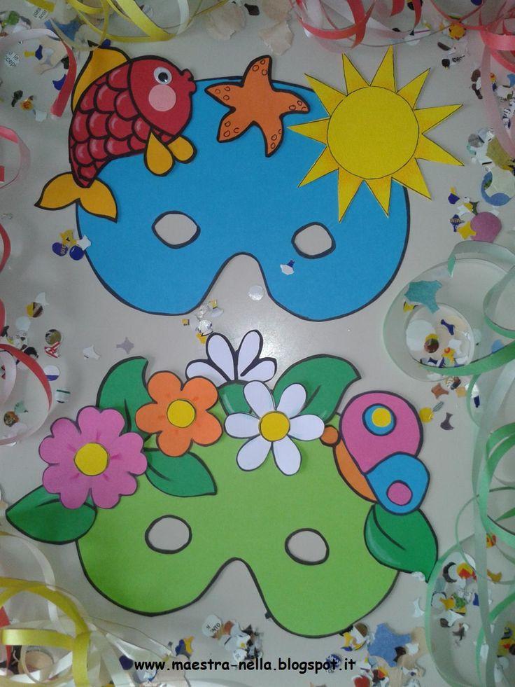 maestra Nella: Carnevale - Maschere 4 stagioni