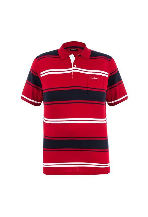 1718bac9fd Polo Plus Size Vermelha Presence - Pierre Cardin Loja Oficial ...