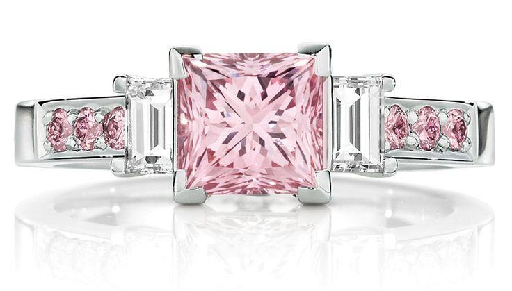 Calleija. The Pink Princess. Platinum 1.52ct Natural Australian Argyle Pink Princess Cut Diamond Ring. POA