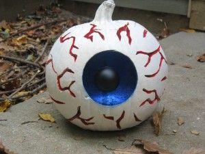 Clever idea for a white pumpkin! #pumpkin #craft