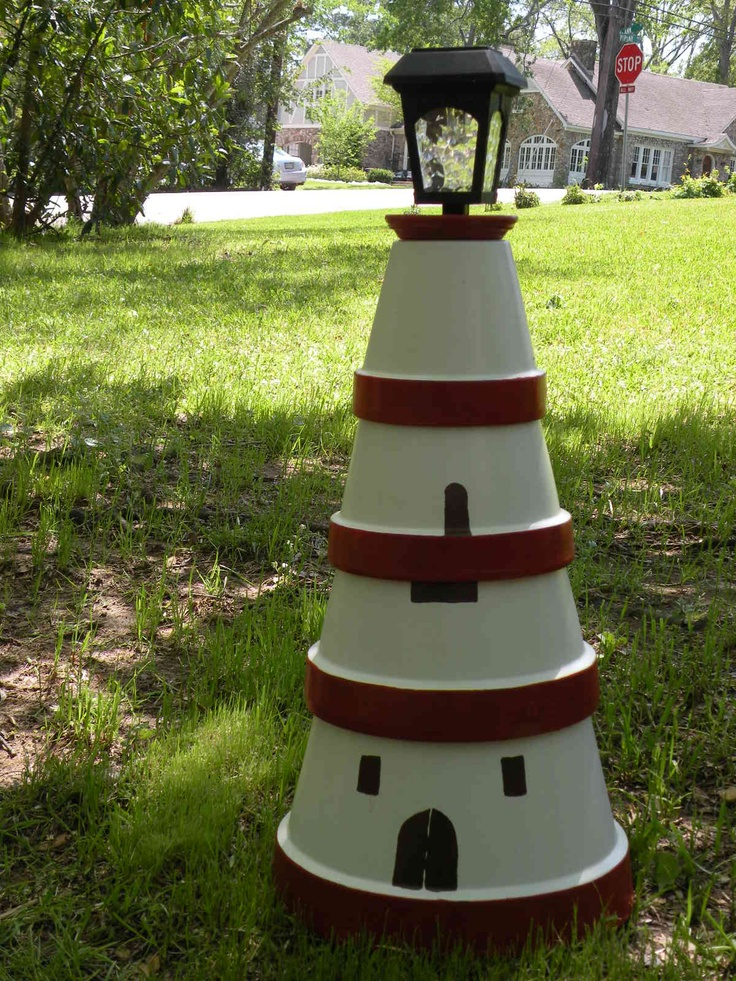 Clay Pot Lighthouse For The Home Pinterest Could
