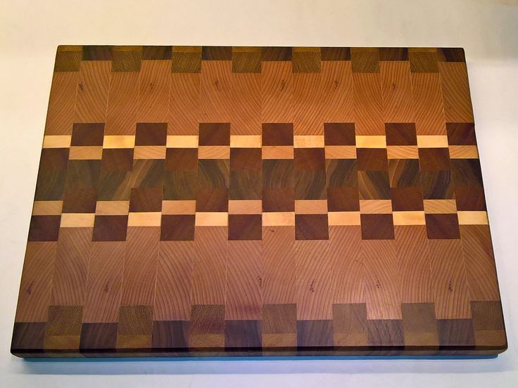 End Grain Cutting Board made from Walnut,beechwood,maple and African Teak.