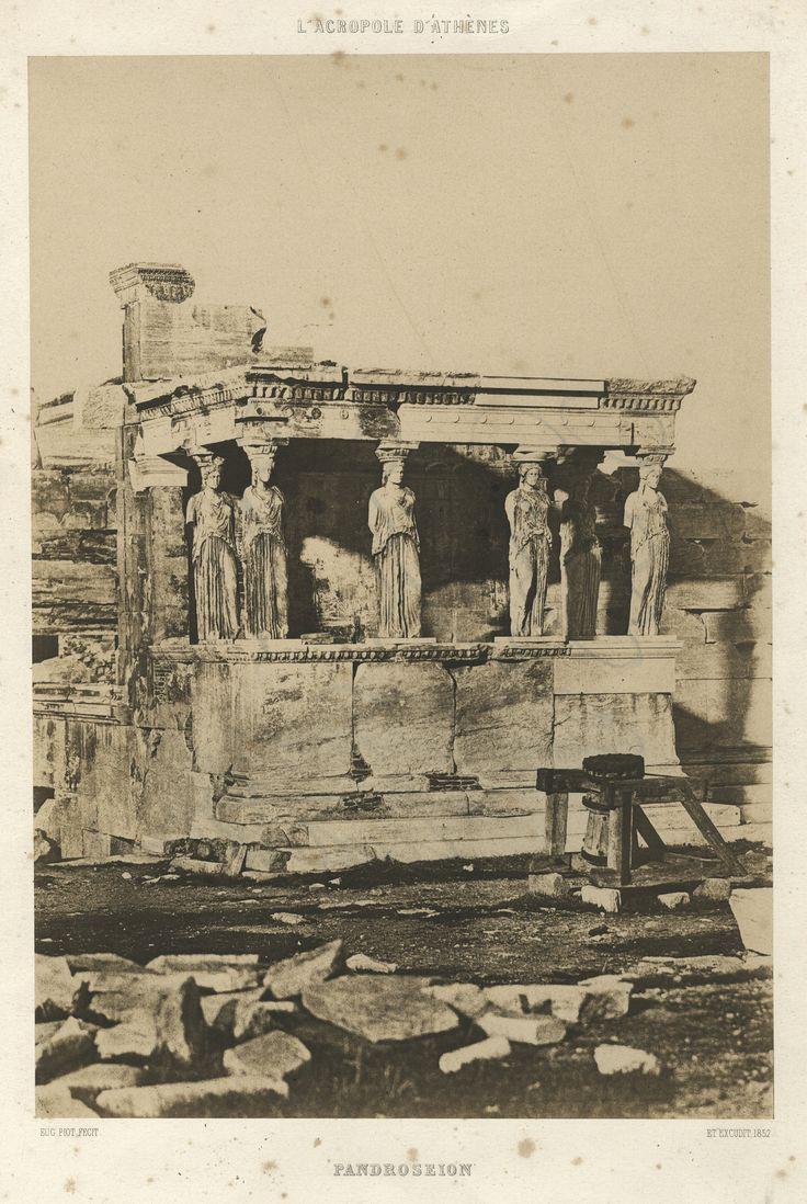 Eugène Piot - Erechtheion with the Porch of the Caryatids, Acropolis, Athens, 1848-1852