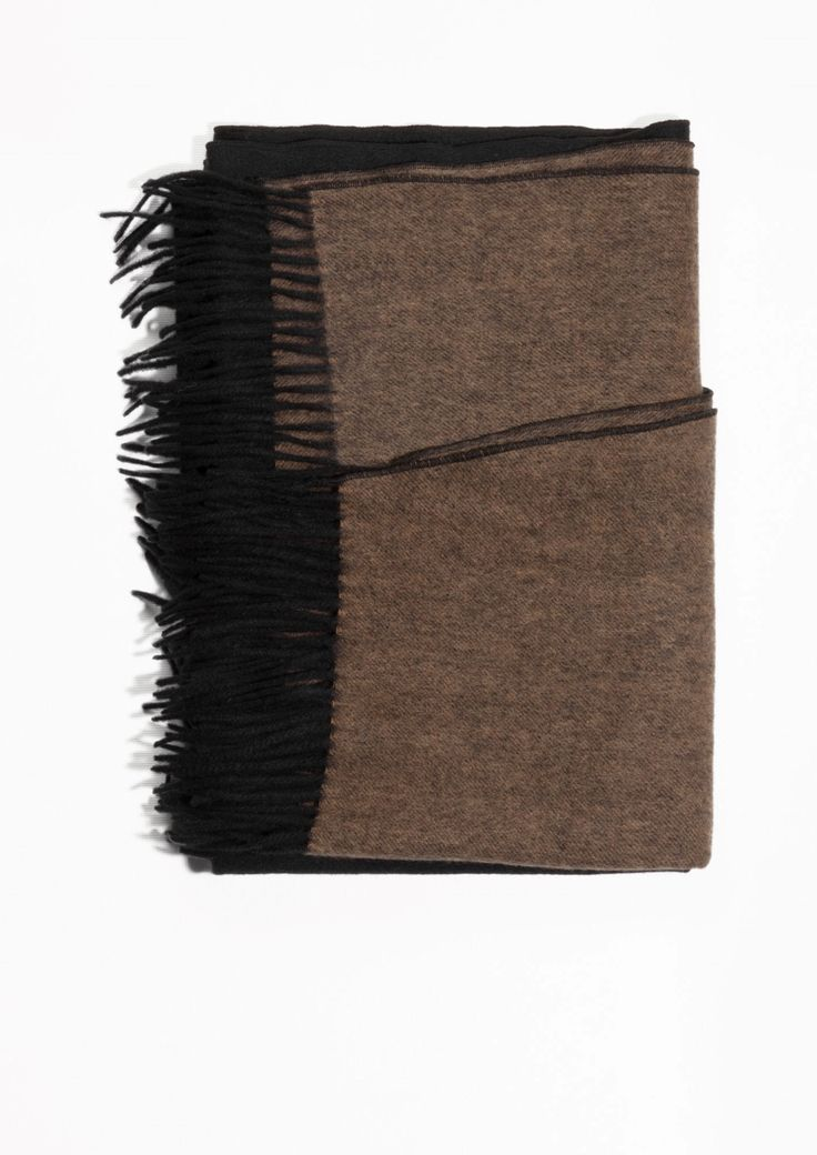 & Other Stories | Oversized Two Tone Wool Scarf